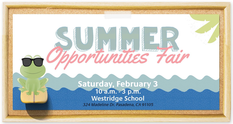 Summer Opportunities Fair 2018